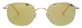 L.g.r Sunglasses - Mauritius Square Metal Sunglasses - Yellow