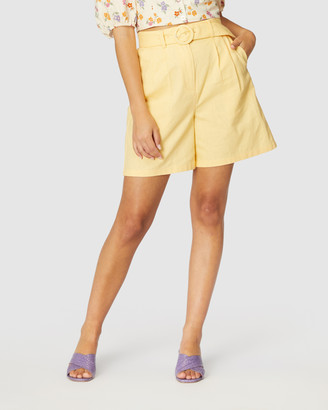 Princess Highway - Women's Yellow Chino Shorts - Magnolia Shorts - Size One Size, 6 at The Iconic