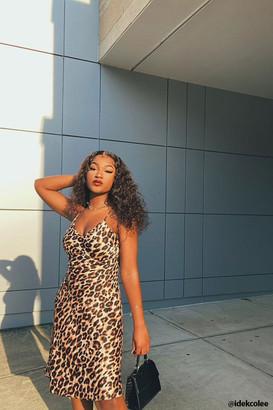 Forever 21 Leopard Print Slip Dress
