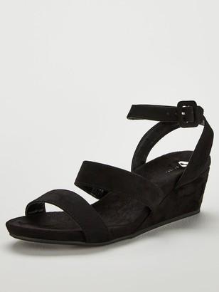 Very Gina Ankle Strap Mini Wedge Flexible Sandal