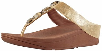 FitFlop Women's ROKA Toe-Thong Sandals-Leather Flip-Flop