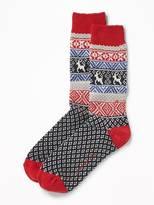 Old Navy Go-Warm Patterned Socks for Men