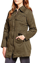 Steve Madden Double Collar Army Cotton Jacket