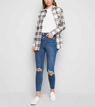 New Look 'Lift & Shape' Ripped Knee Skinny Jeans
