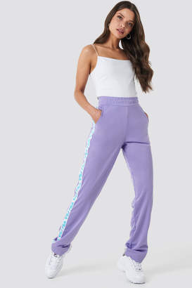 Fila Women Strap Track Pants Violet Tulip