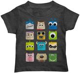 Disney Pixar Character Squares Toddler Boy Graphic Tee