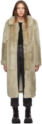 Stella McCartney Beige Fur Free Fur Coat
