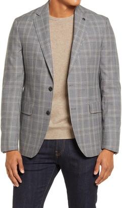 Ted Baker Konan Trim Fit Plaid Wool Blazer