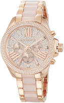 MICHAEL Michael Kors Wren Rose Golden Stainless Steel Pave Chrono Watch