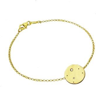 Yvonne Henderson Jewellery Libra Constellation Bracelet with White Sapphires Gold