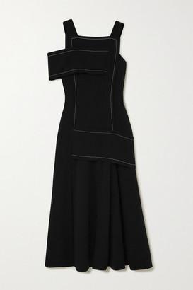 3.1 Phillip Lim One-shoulder Paneled Crepe Maxi Dress - Black