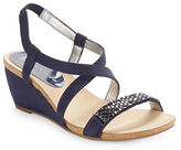 Anne Klein Jasia Embellished Wedge Sandals