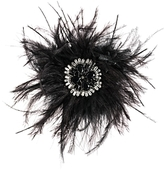 Carolee Feather & Stone Cluster Pin