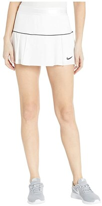 Nike NikeCourt Victory Skirt (White/Black/Black) Women's Skirt
