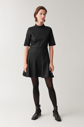 Cos High Neck Fitted-Waist Dress