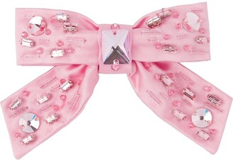 Miu Miu Embellished Bow Hair Clip