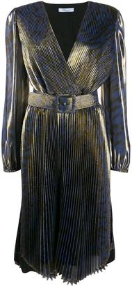Blumarine pleated animal dress