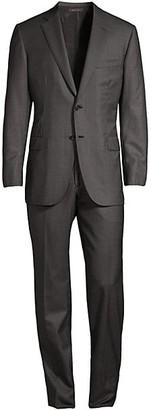 Brioni Wool Windowpane Suit