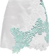 3.1 Phillip Lim Guipure lace-paneled silk-gazar mini skirt