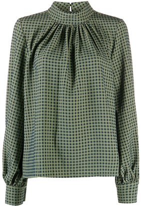 Stine Goya Plaid Print Blouse
