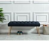 Logan Upholstered Bench Mercer41 Upholstery: Black