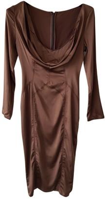 Gucci Brown Silk Dresses