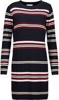 Chinti and Parker Ribbed striped wool sweater dress