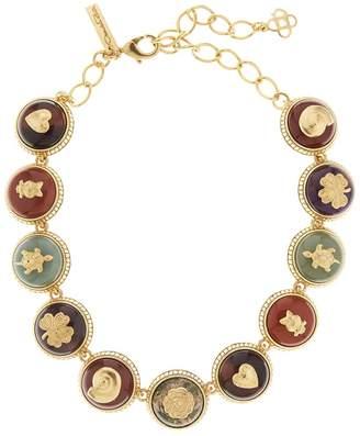 Oscar de la Renta Semiprecious Disk Necklace