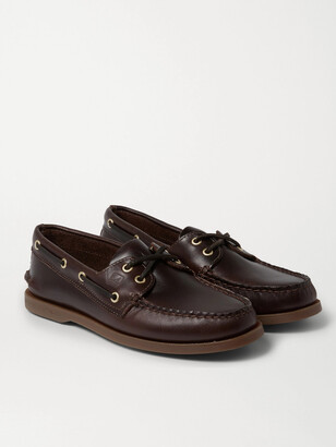 Sperry Authentic Original Burnished-Leather Boat Shoes - Men