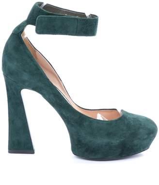 Celine \N Green Suede Heels
