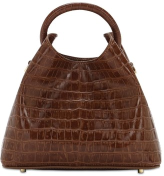 Elleme Baozi Croc Embossed Leather Bag