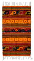 Zapotec Wool Striped Area Rug (2x3.5), 'Stairway to the Sky'