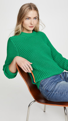 Tory Sport Performance Cotton Ribbed Sweater