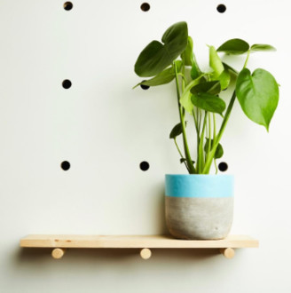 Hi Cacti - Extra Large Blue Concrete Plant Pot - blue - Blue/Blue
