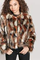 Forever 21 Multicolored Faux Fur Coat