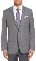 BOSS Men's Hutch 2 Trim Fit Windowpane Wool Sport Coat