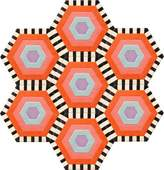 Kinder GROUND Honeycomb Carpet - Swizzle (7 piece Hexagon)