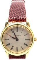 Tiffany & Co. 18k Yellow Gold Quartz Leather Band Watch