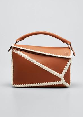 Loewe Puzzle Crochet Leather Satchel Bag