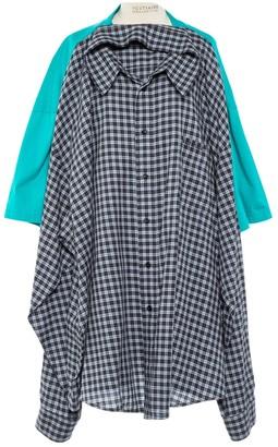 Balenciaga Turquoise Cotton T-shirts