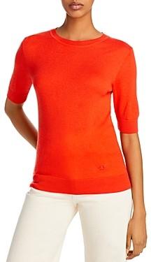 Tory Burch Short-Sleeve Iberia Cashmere Sweater