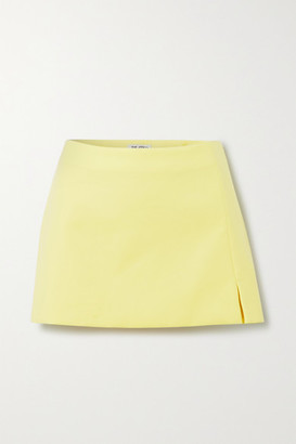 ATTICO The Cotton-blend Mini Skirt - Yellow