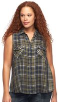 Rock & Republic Plus Size Plaid Shirt