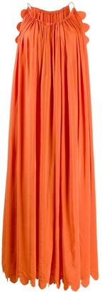 Stella McCartney Scallop-Edge Maxi-Dress