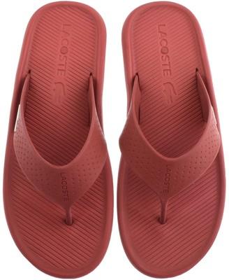 Lacoste Croco Flip Flops Red