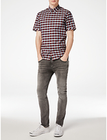 Fred Perry Bold Gingham Short Sleeve Shirt, Rosewood