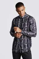 Long Sleeve Snake Print Shirt