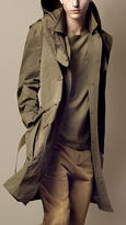 Burberry Long Hooded Trench Coat