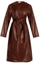 Lemaire Tie-waist coated cotton-blend coat
