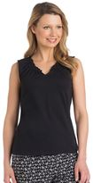 Jockey Women's Pajamas: Ruffle V-Neck Tank
